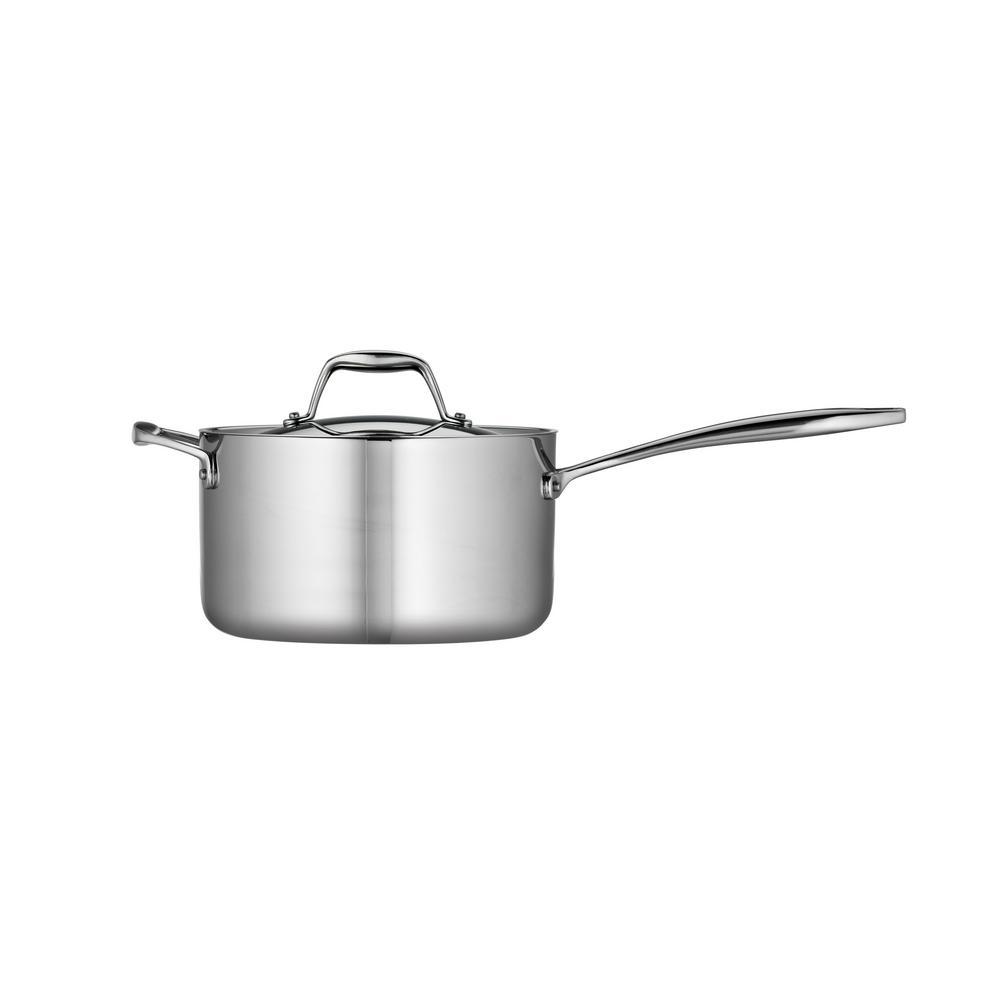 Tramontina Gourmet 4 Qt  Tri-Ply Clad Saucepan with Lid