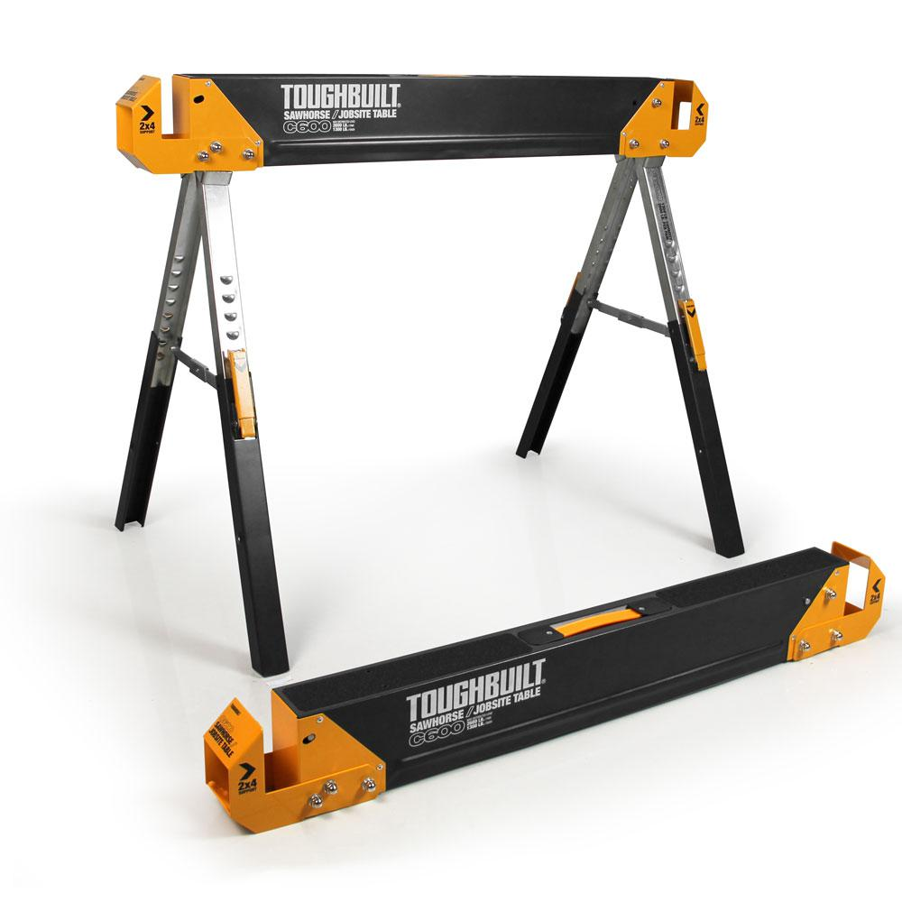 42.4 in. W Adjustable Height (24.5-31.7 in.) Steel Sawhorse and Jobsite