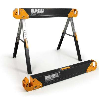 42.4 in. W Adjustable Height (24.5-31.7 in.) Steel Sawhorse and Jobsite Table – 1300 lb. Capacity