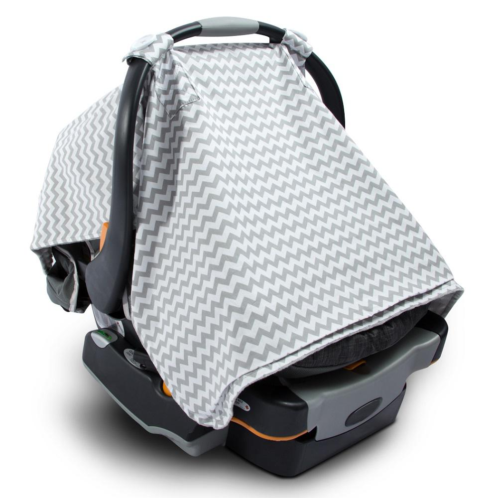 2-in-1 Baby Blanket Car Seat Cover and Nursing Blanket, Gray