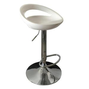 Adjustable Height Chrome Bar Stool by