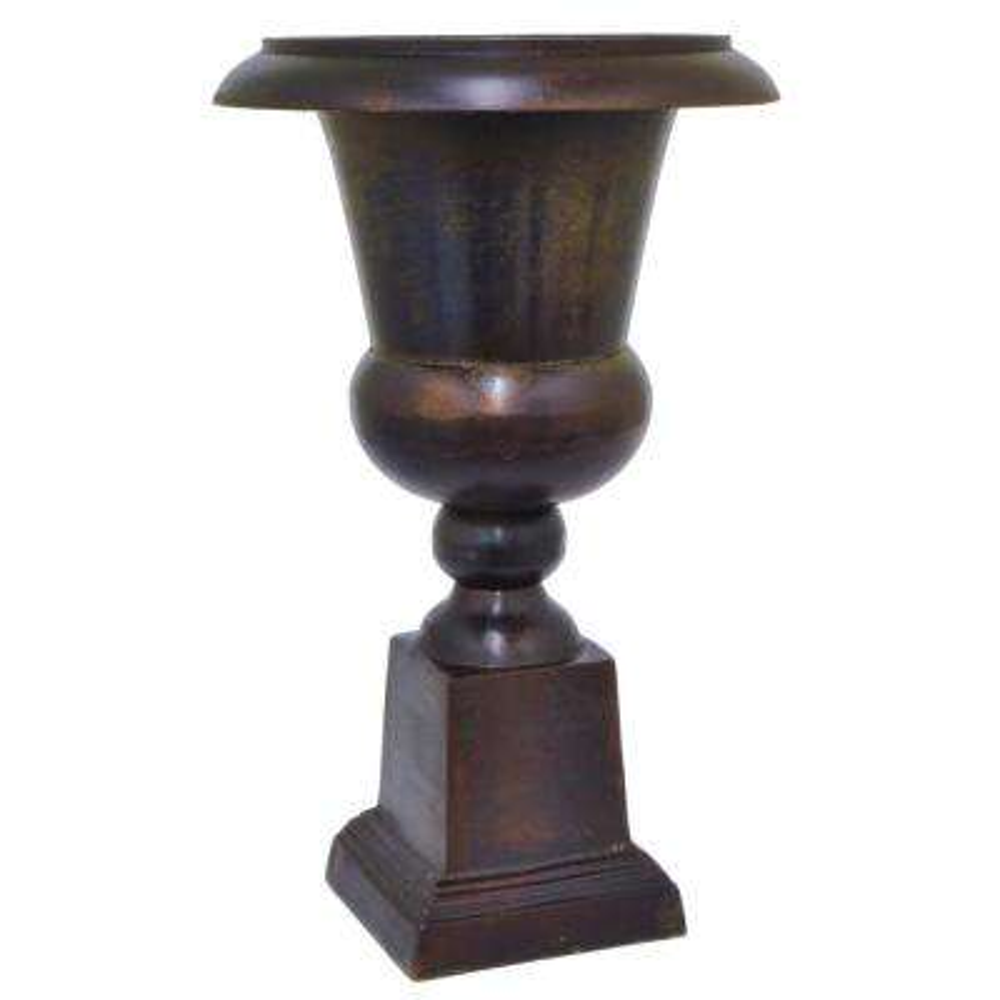 Brown Metal Decorative Vase