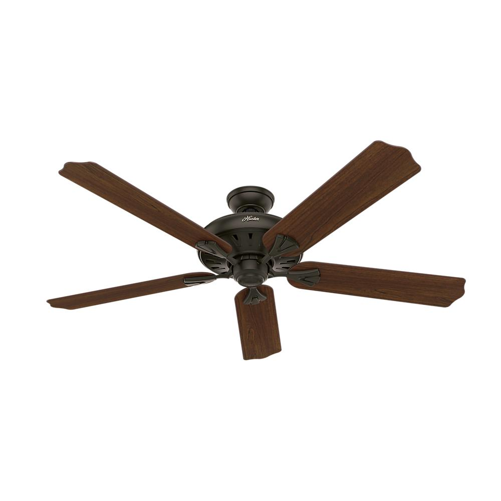 Hunter Royal Oak 60 in. Indoor New Bronze Ceiling Fan with Remote