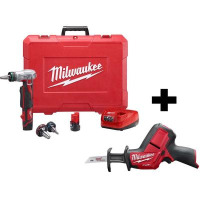 M12 12-Volt Lithium-Ion Cordless ProPEX Expansion Tool Kit with Free M12 FUEL HACKZALL Reciprocating Saw