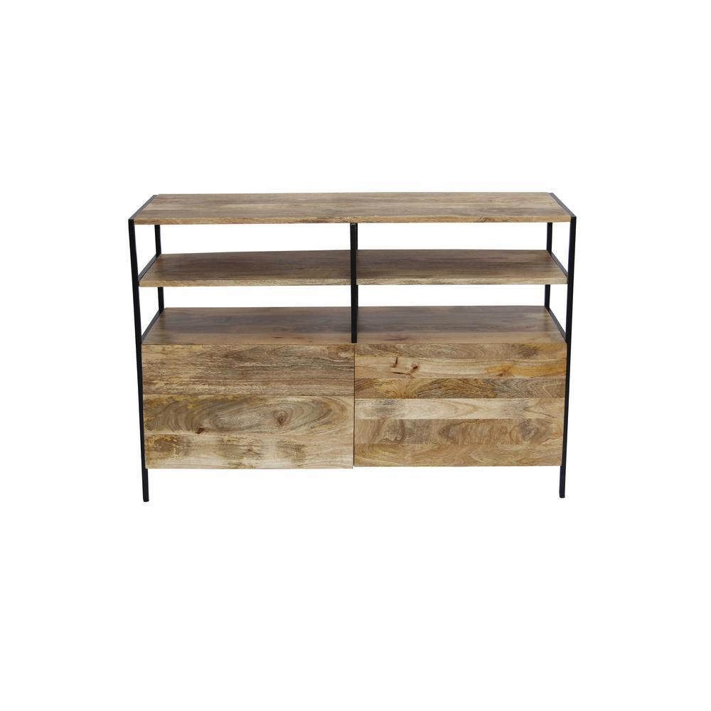 Classy Natural Wood Finish Elegant TV Unit