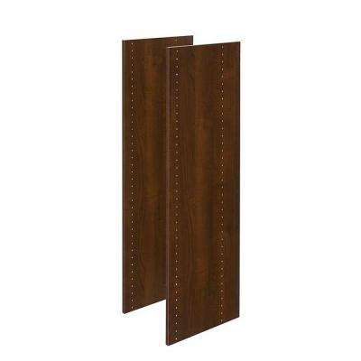 14 in. x 48 in. Espresso Wood Vertical Panels (2-Pack)