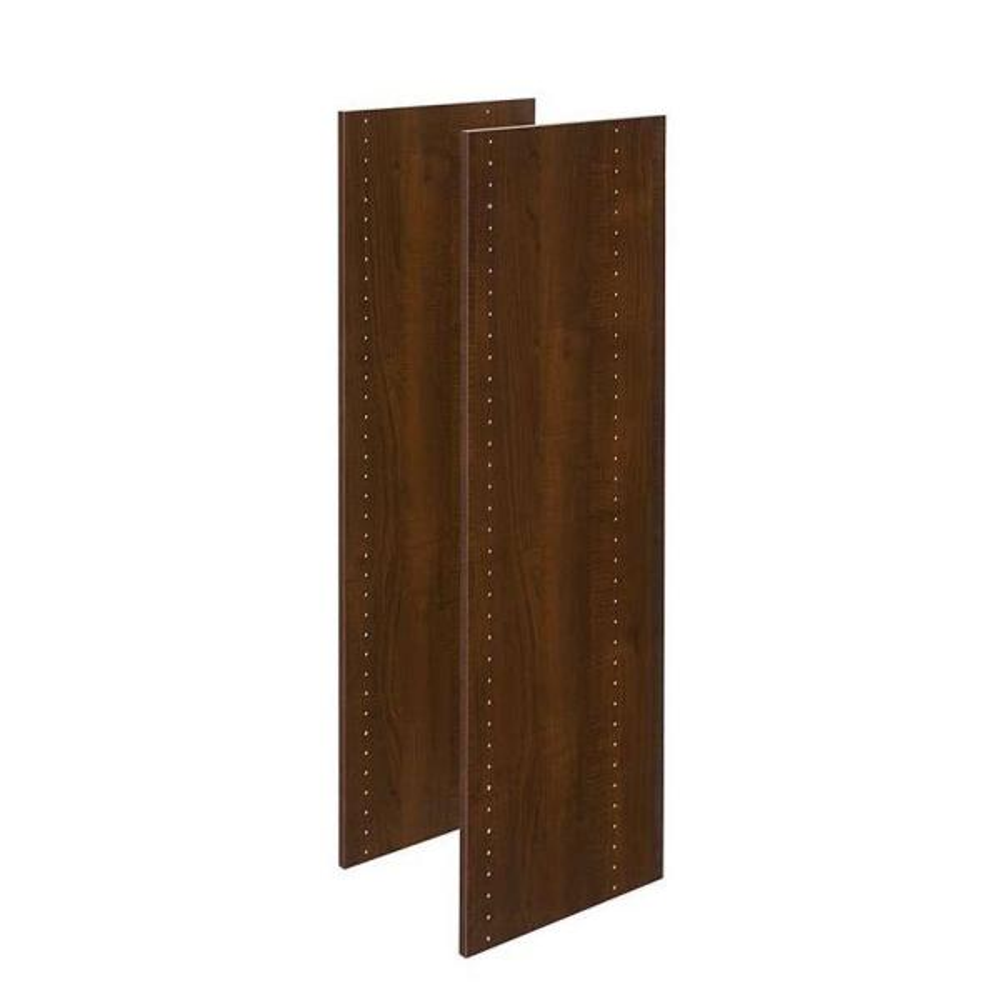 14 in. x 48 in. Espresso Wood Vertical Panels (2-Pack)