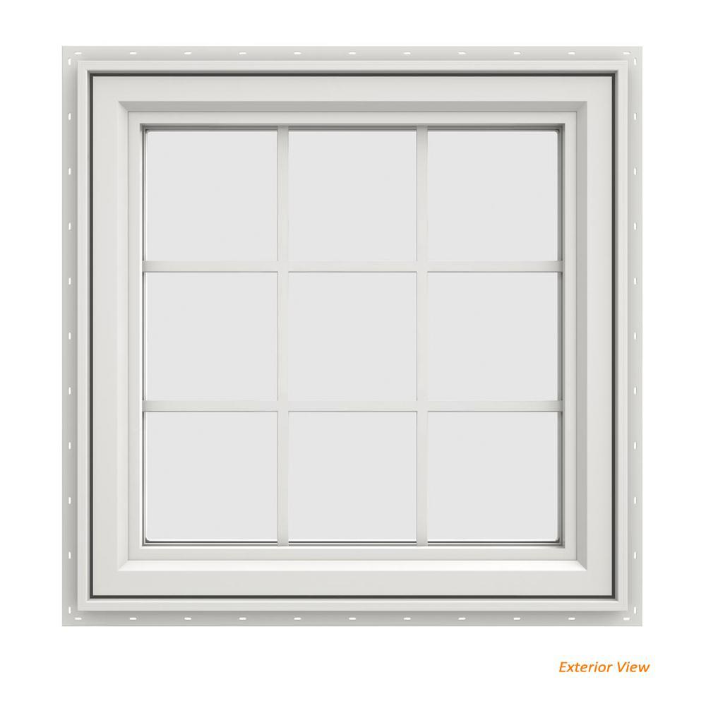 29.5 in. x 29.5 in. V-4500 Series White Vinyl Right-Handed Casement