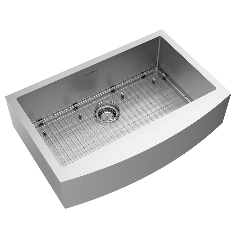 American Standard Pekoe Farmhouse/Apron-Front Stainless Steel 33 in ...
