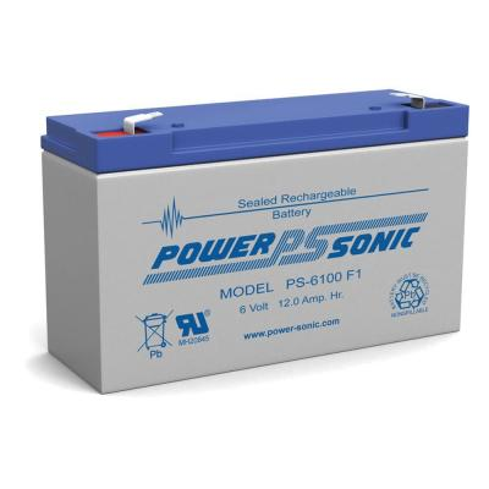 6-Volt 12 Ah Sealed Lead Acid (SLA) Rechargeable Battery