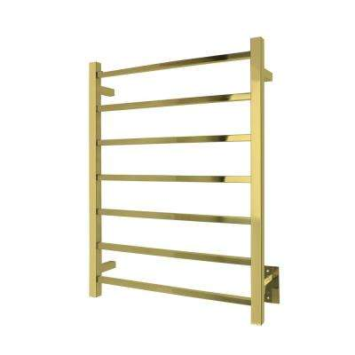 Elevate Tahoe 7-Bar Electric Towel Warmer in Gold