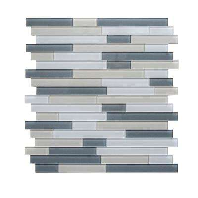 Placidity Mixed Grays 11.65 in. x 11.69 in. x 5 mm Glass Self-Adhesive Wall Mosaic Tile
