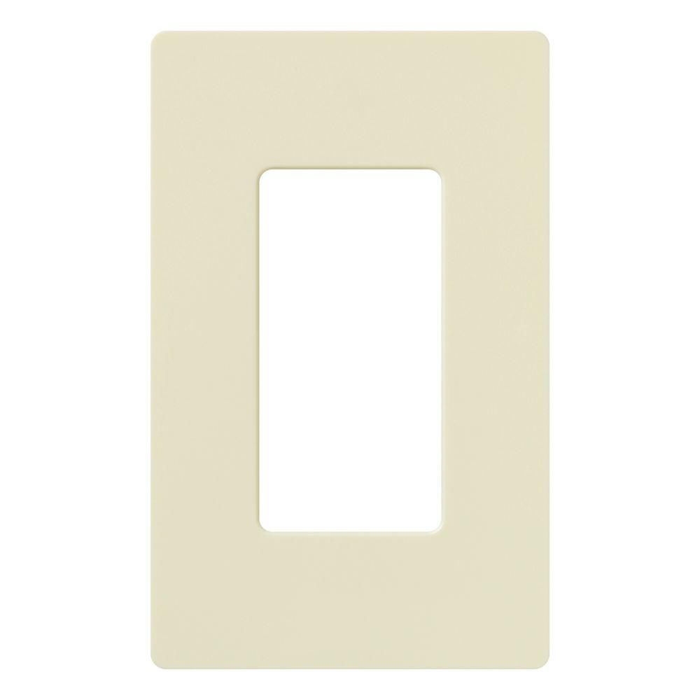 Claro 1 Gang Decora Wall Plate - Almond