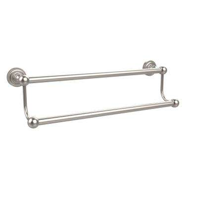 Dottingham Collection 30 in. Double Towel Bar in Satin Nickel