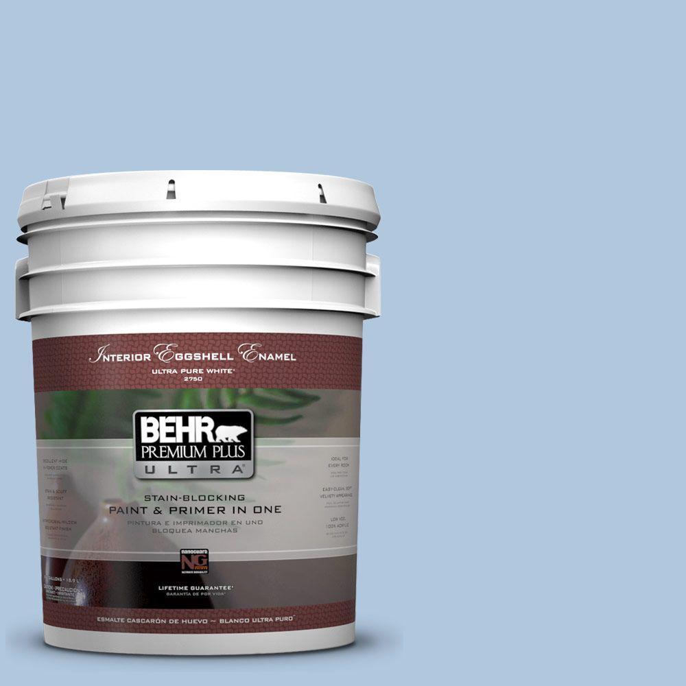 BEHR Premium Plus Ultra 5-gal. #PPU14-13 Caspian Tide Eggshell Enamel Interior Paint