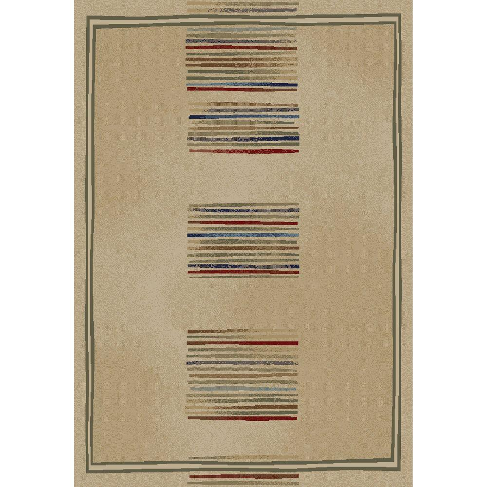 Jewel Stripes Ivory 2 ft. 7 in. x 4 ft. Accent