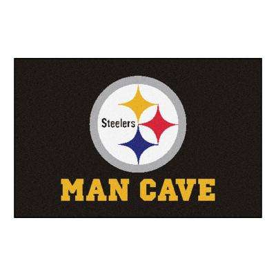 NFL Pittsburgh Steelers Black Man Cave 2 ft. x 3 ft. Area Rug