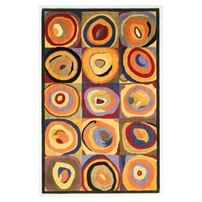 Circle Abstract Multi 4 ft. x 6 ft. Area Rug
