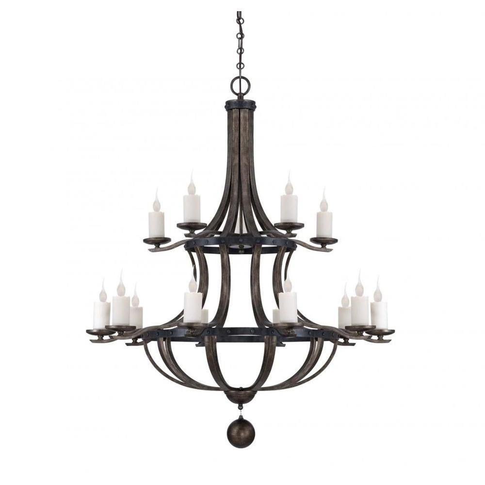 Illumine Aumbrie 15-Light Reclaimed Wood Chandelier