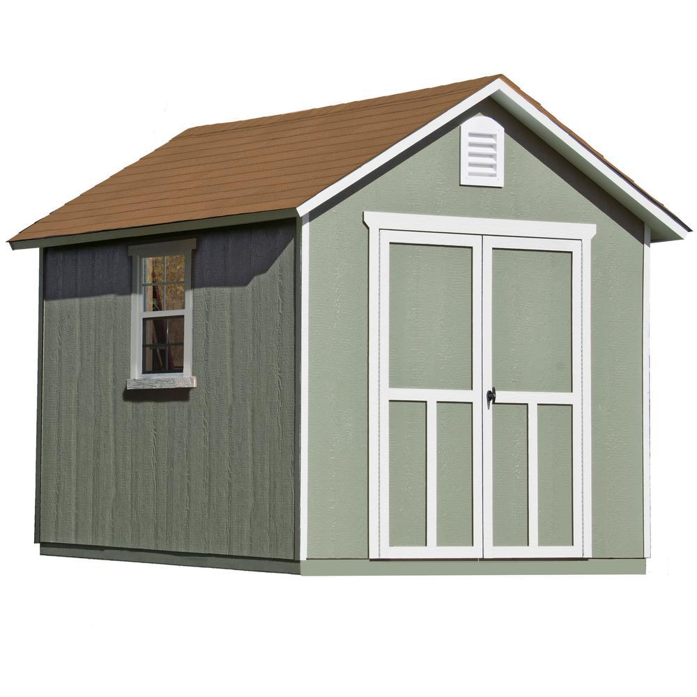 Handy Home Products Princeton 10 Ft. X 10 Ft. Wood Storage Shed 18250 1    The Home Depot