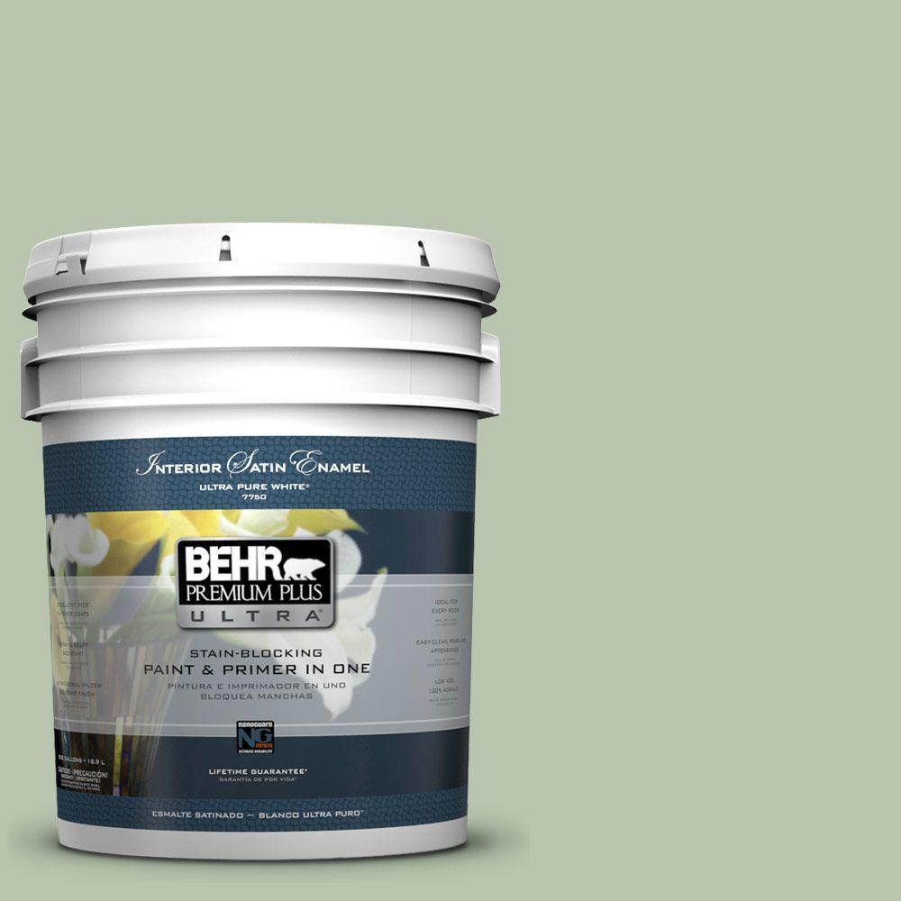 BEHR Premium Plus Ultra 5-gal. #PPU11-10 Whitewater Bay Satin Enamel Interior Paint