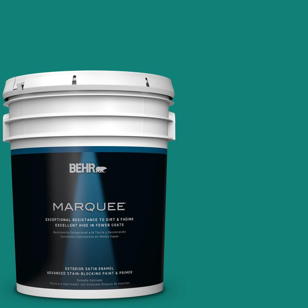 BEHR MARQUEE Home Decorators Collection 5-gal. #HDC-WR14-9 Green Garlands Satin Enamel Exterior Paint