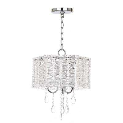 Harlyn 3-Light Chrome Chandelier with Clear Shade