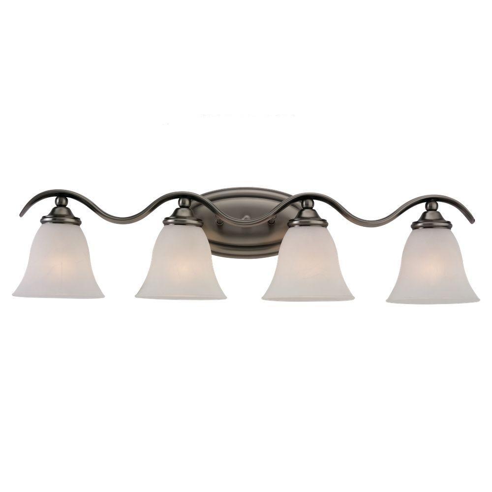 Sea Gull Lighting Rialto 4-Light Antique Brushed Nickel Vanity Fixture