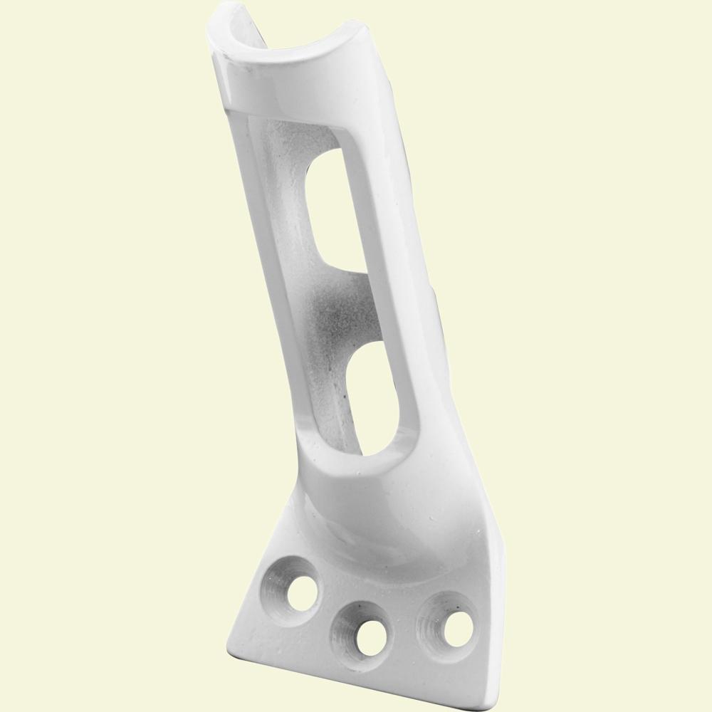 3/4 in. White Aluminum Flagpole Bracket