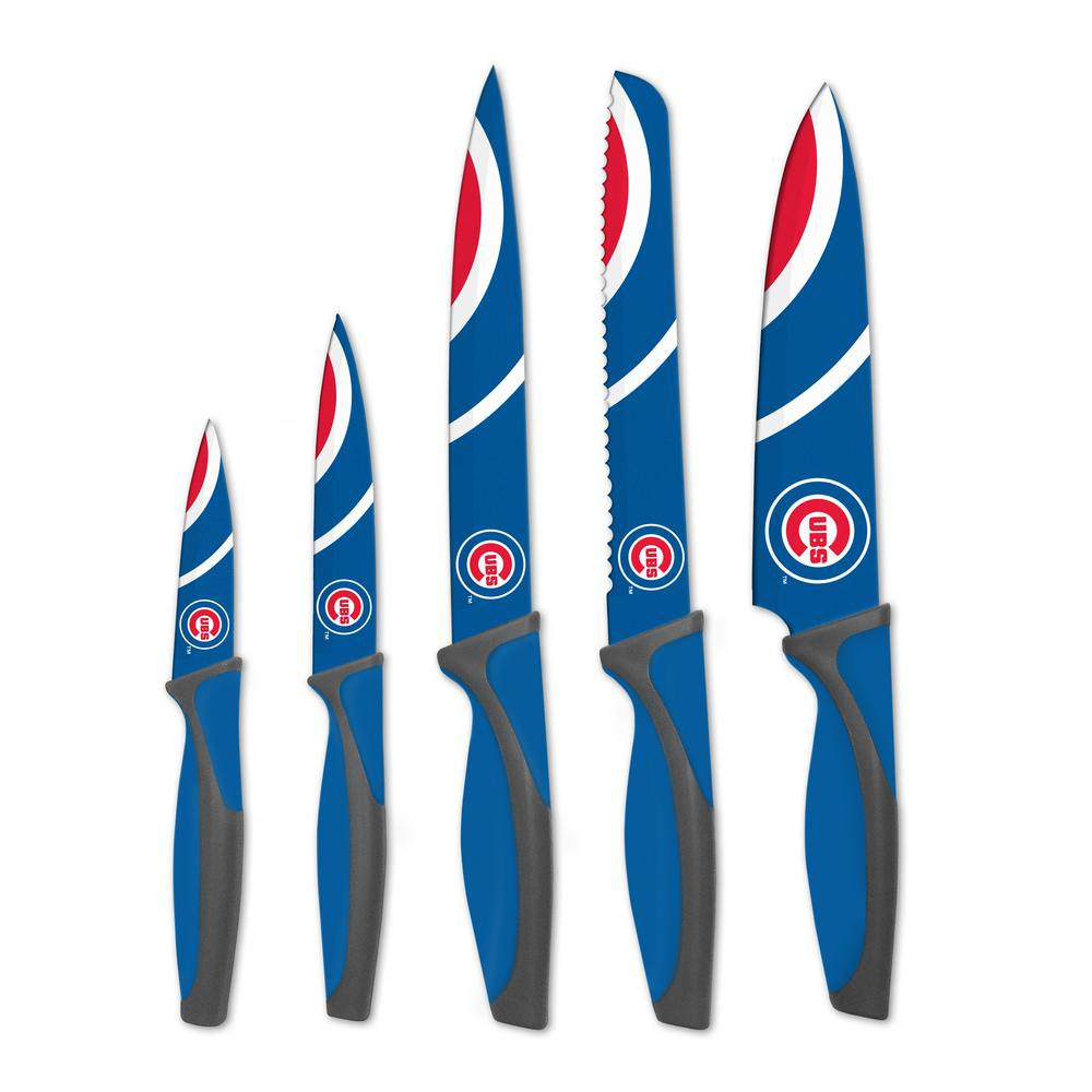 MLB Chicago Cubs 5-Piece Kitchen Knives