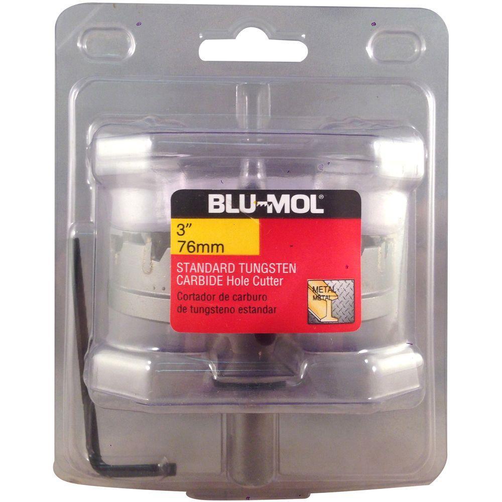 BLU-MOL 3 inch Standard Tungsten Carbide Hole Cutter by BLU-MOL