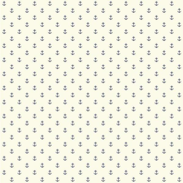 York Wallcoverings Nautical Living Anchor Spot Wallpaper