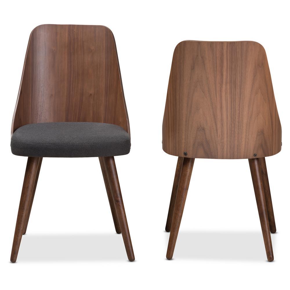 Romily Dark Grey Fabric Dining Chair (Set of 2)