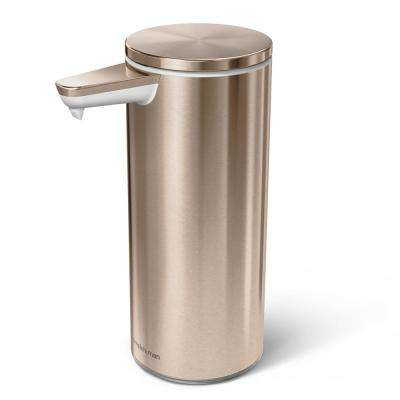 9 oz. Rechargeable Sensor Soap Pump in Rose Gold Stainless Steel