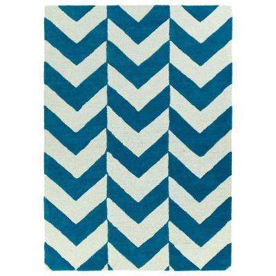 Trends Turquoise 5 ft. x 7 ft. Area Rug