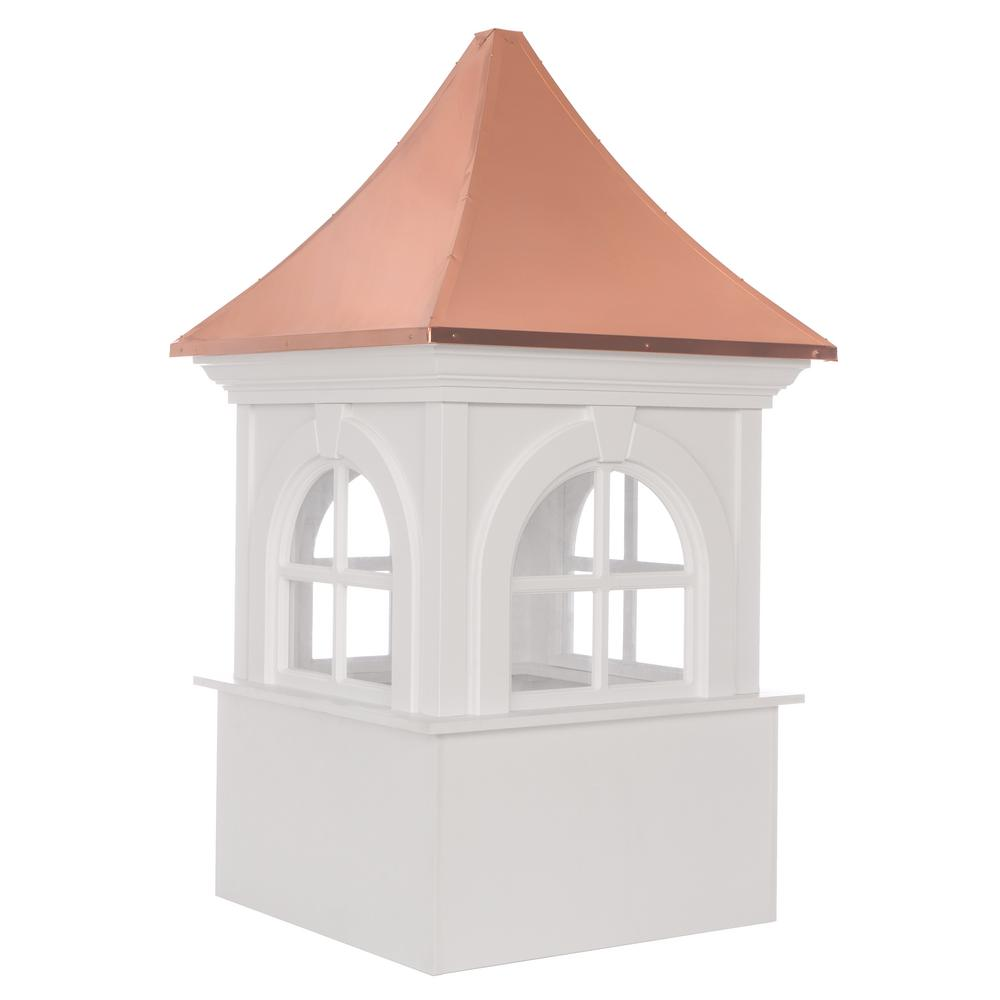 Smithsonian Fairfax 30 in. x 51 in. Vinyl Cupola with Copper
