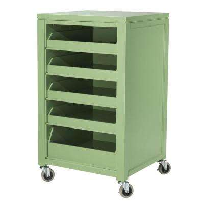 36 in. H Rhododendron Leaf Cart With Pull Out Trays