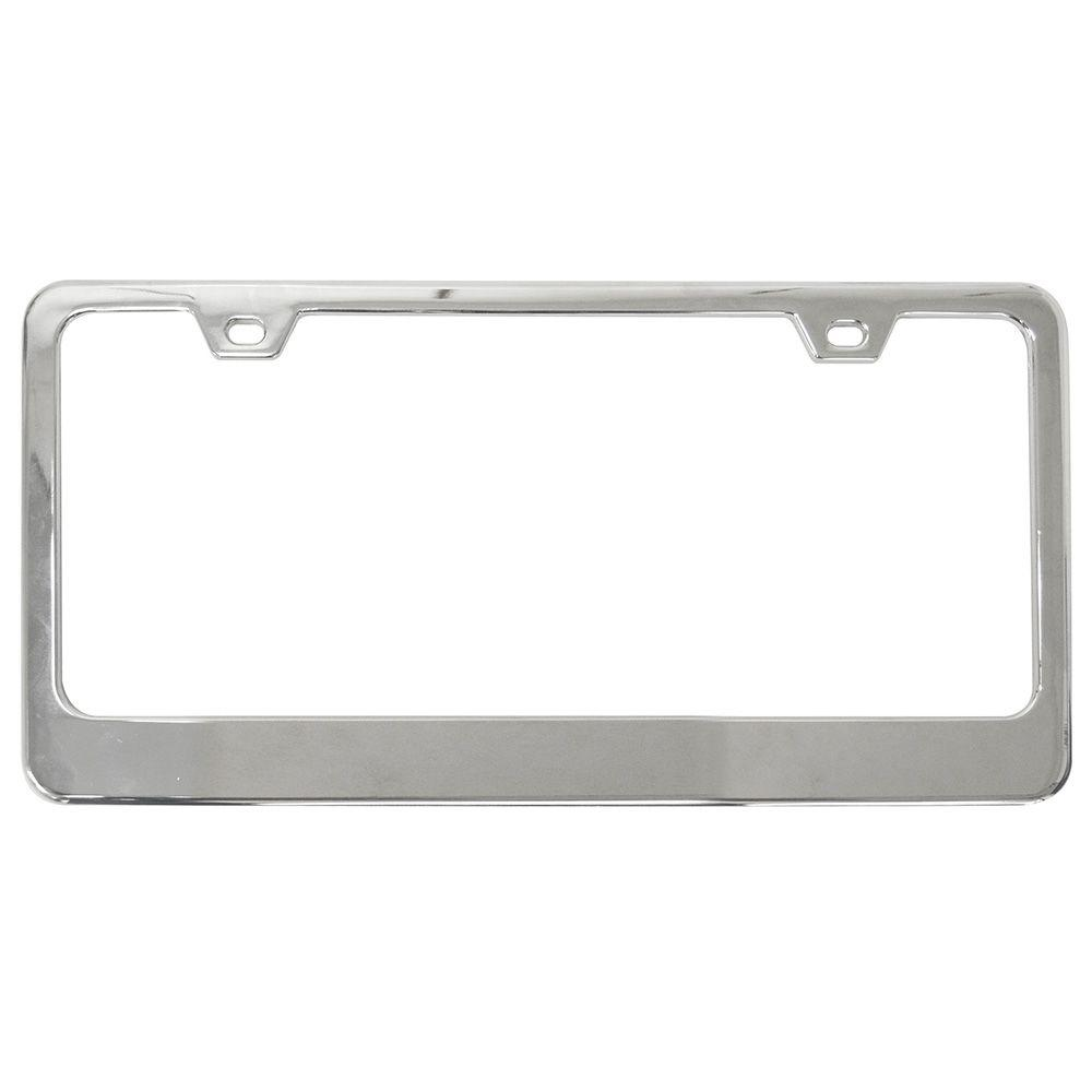 Custom Accessories Classic Chrome License Plate Frame-92871 - The ...