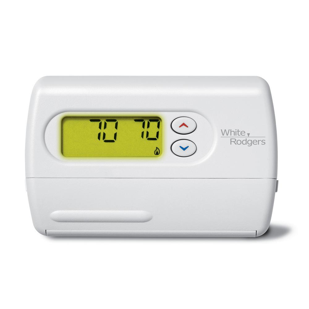 Emerson Heat Pump Thermostat Wiring Diagram White Rodgers 1f86 344 48 Whites Non Programmable Thermostats 64 1000 Honeywell Round Mechanical Only Ct87k The