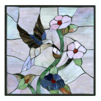 12 in. x 12 in. Hummingbird Decorative Garden Stone