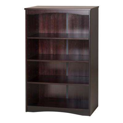 Essentials Cappuccino 48 in. H Wooden Bookcase