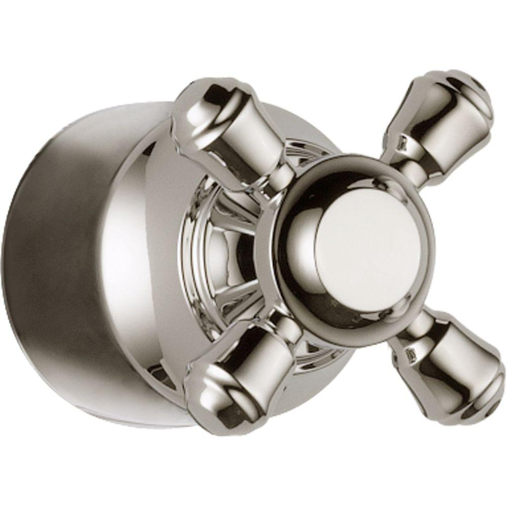 Cassidy Hand Shower/Diverter Valve Metal Cross Handle in Polished Nickel