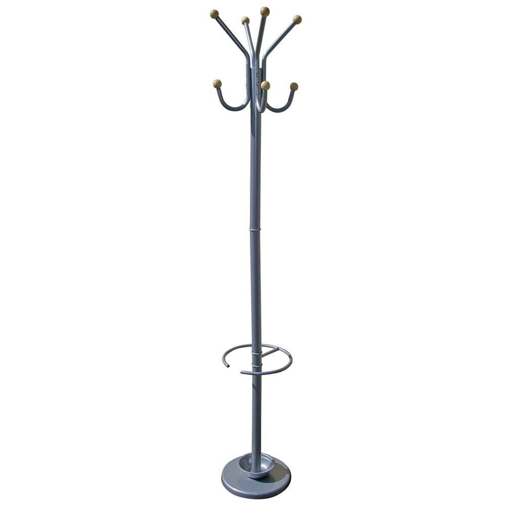69.5 in. Gilead Silver Coat Rack with Umbrella Holder