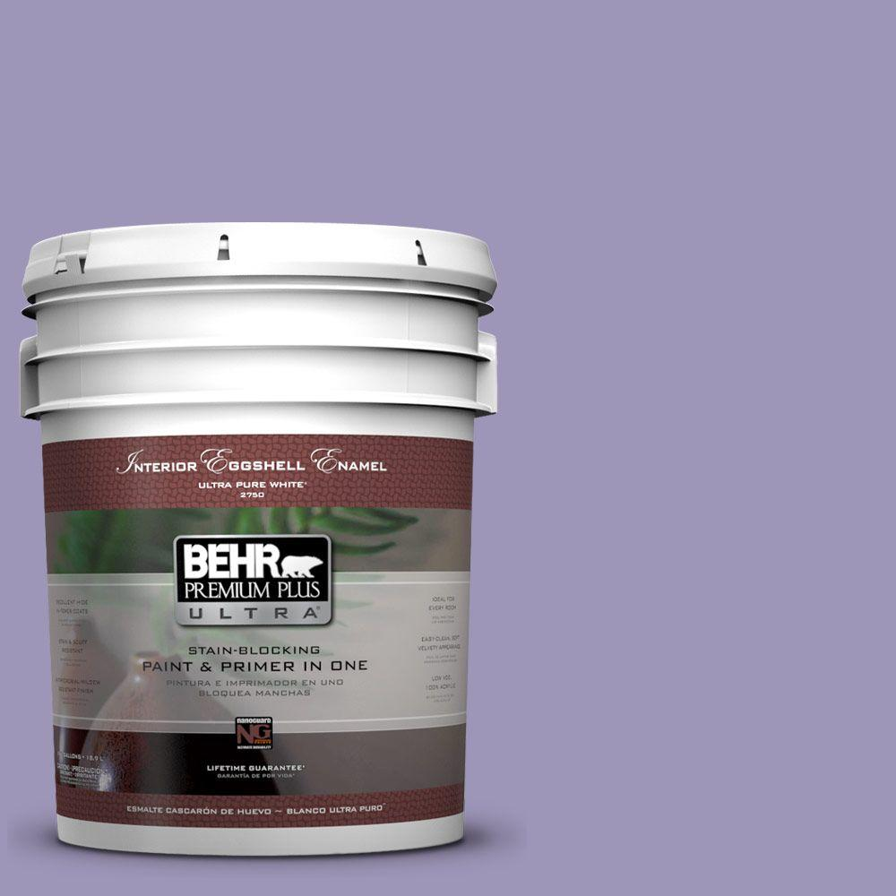 BEHR Premium Plus Ultra 5-gal. #640D-5 June Berry Eggshell Enamel Interior Paint