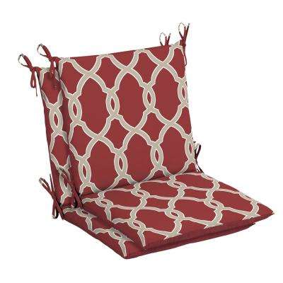 Jeanette Trellis Outdoor Dining Chair Cushion (2-Pack)