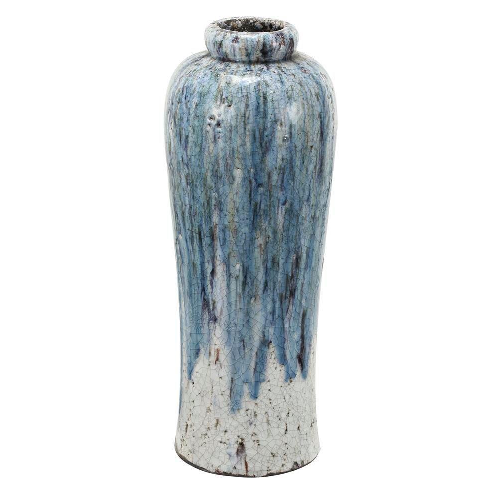 8.5 in. x 23 in. Terracotta Vase