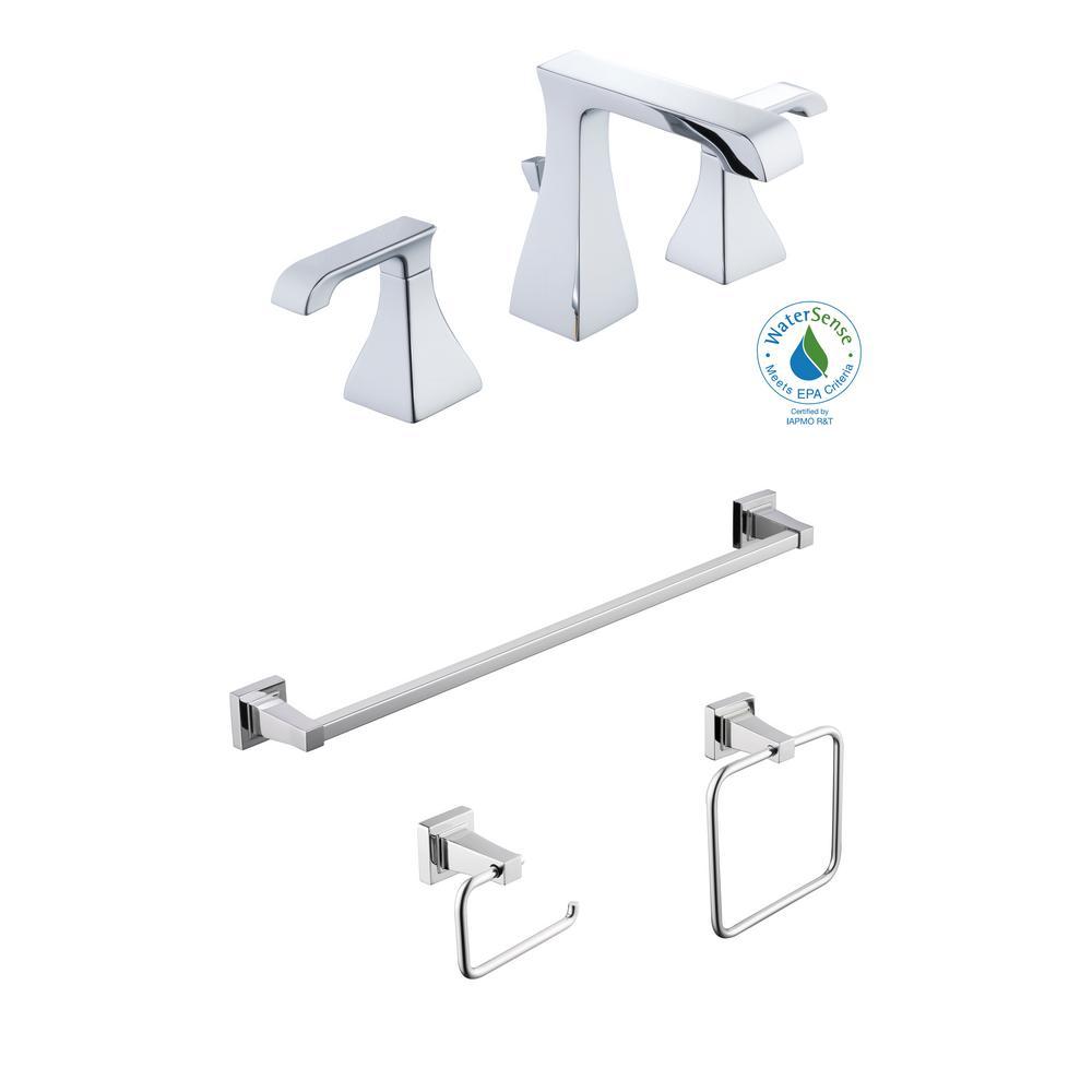 Glacier Bay Adelyn 8 In Widespread 2 Handle Bathroom