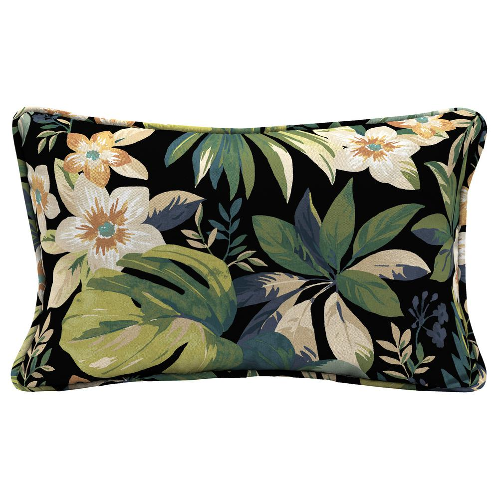 Hampton Bay Sky Tropical Lumbar Outdoor Throw Pillow Tg0w108b 9d4