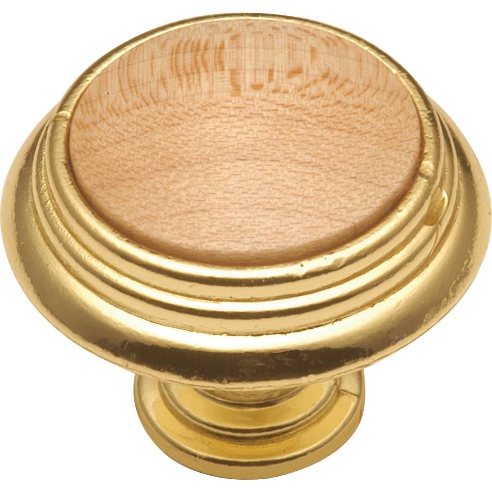1-1/4 in. Natural Maple Cabinet Knob