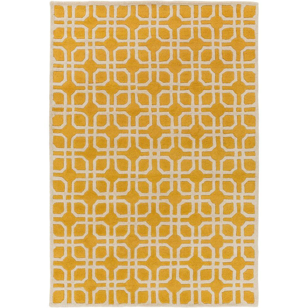 Transit Madison Yellow 6 ft. x 9 ft. Indoor Area Rug